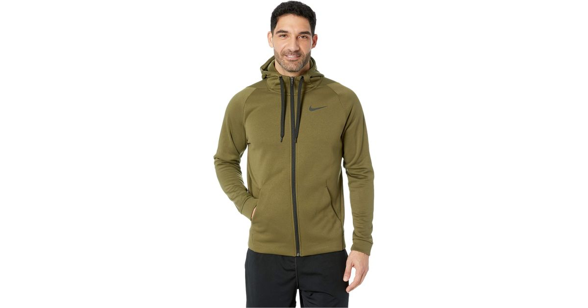 bac2d3df Nike Dri-fit Therma Men's Full-zip Training Hoodie in Green for Men - Lyst