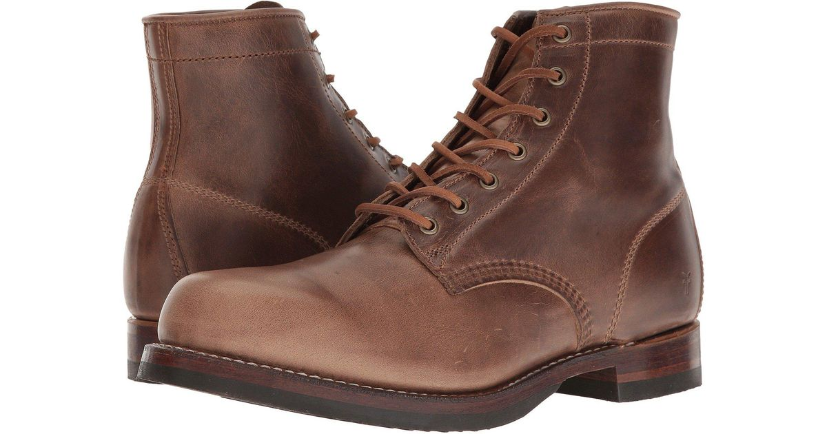 5c3de76d8ff Lyst - Frye John Addison Lace-up (black Waterproof Smooth Pull Up) Men s  Boots in Brown for Men