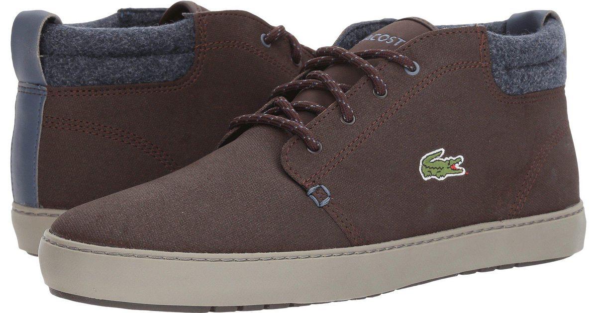 3d1ab9938 Lyst - Lacoste Ampthill Terra 417 1 Cam (dark Brown) Men s Shoes in Brown  for Men
