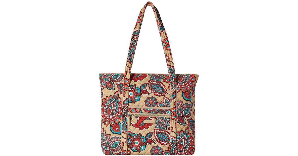 f098fd9164 Lyst - Vera Bradley Iconic Vera Tote (desert Floral) Tote Handbags in Red