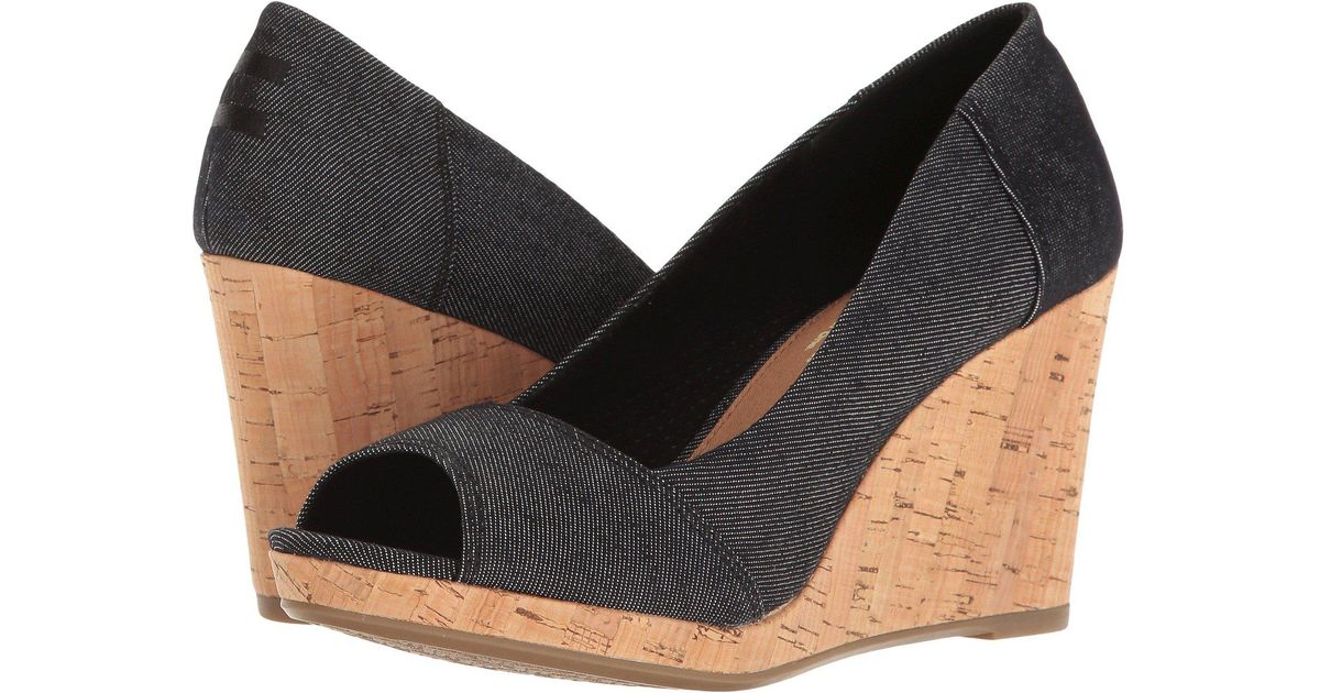 6e29770acaa Lyst - TOMS Stella Wedge in Black - Save 38%