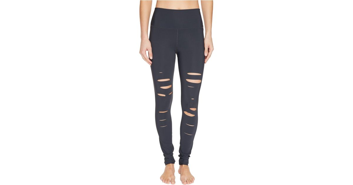 e3700a0899d98 Alo Yoga Ripped Warrior Leggings (rich Navy) Women's Casual Pants - Lyst