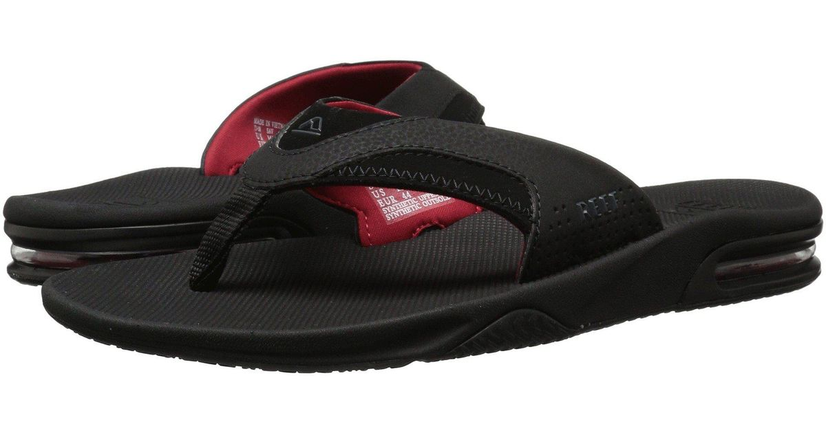 3a0be8485 Lyst - Reef Fanning (all Black red) Men s Sandals in Black for Men