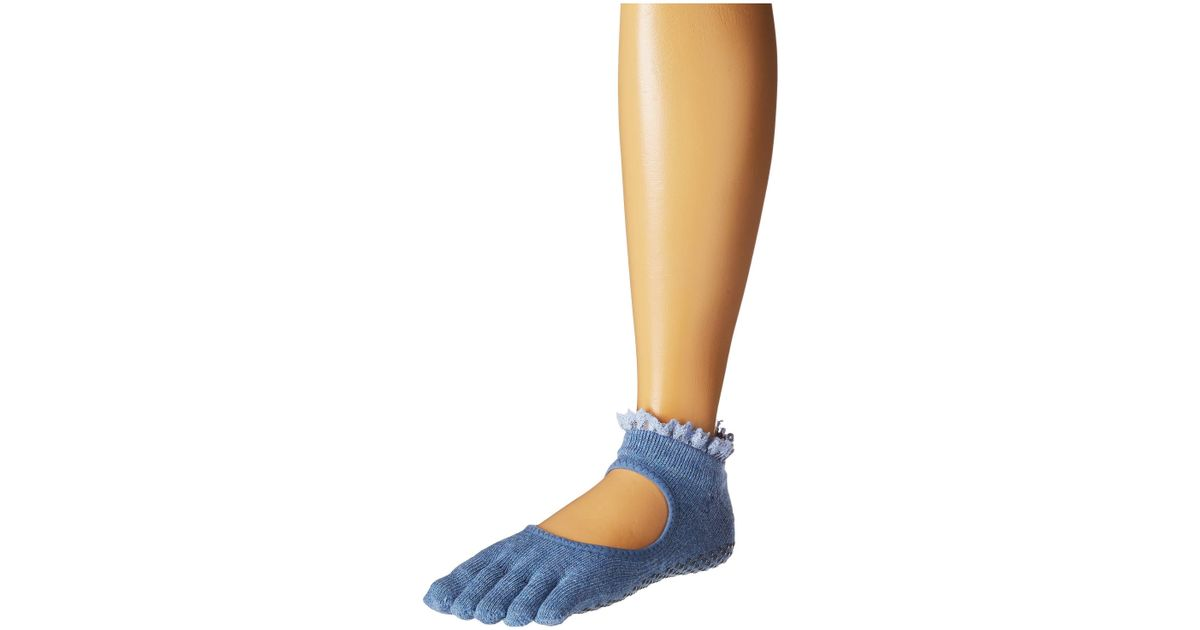 38605715b Lyst - ToeSox Bella Full Toe W/ Grip (midnight Lace) Women's No Show Socks  Shoes in Blue