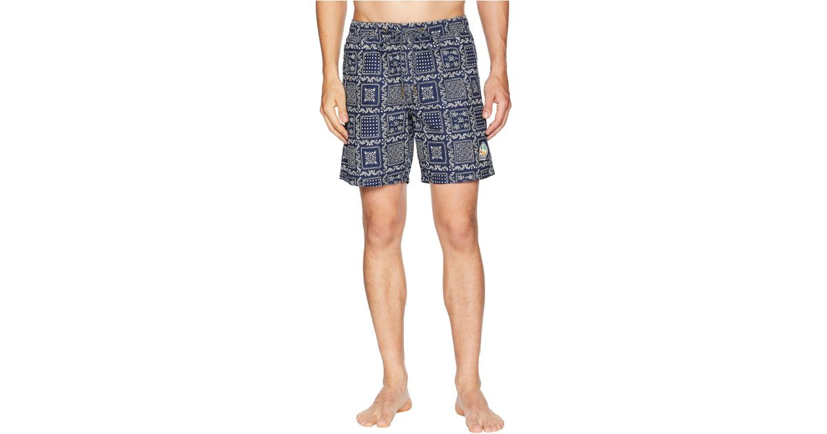 335e20f82d Reyn Spooner Original Lahaina Swim Trunk (ink) Swimwear in Blue for Men -  Save 58% - Lyst
