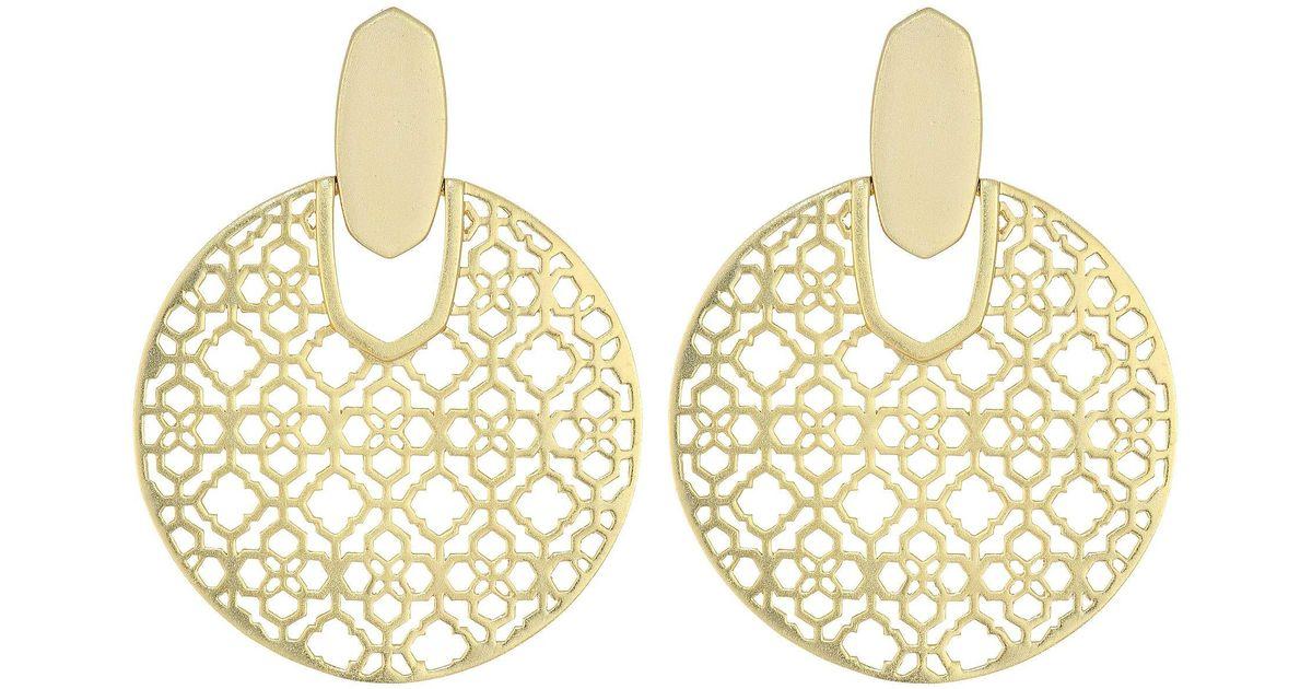 0cd521ab3f18d Kendra Scott - Metallic Didi Earrings (rose Gold Metal) Earring - Lyst