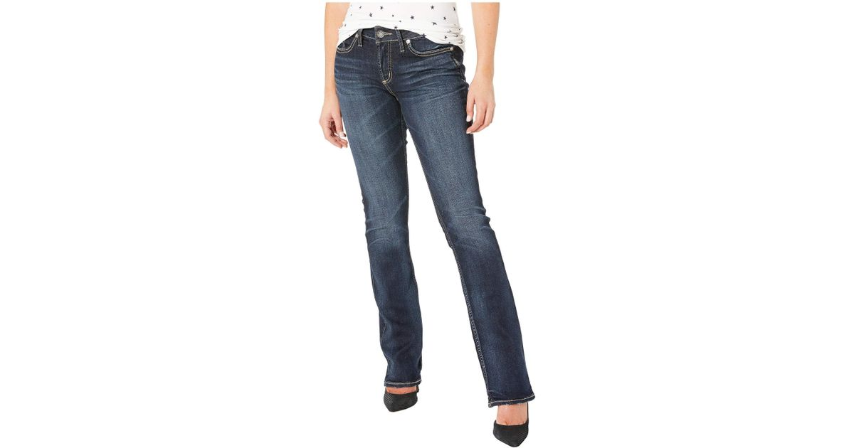 54a620add40 Lyst - Silver Jeans Co. Elyse Mid-rise Curvy Fit Slim Boot Jeans In Indigo  (indigo) Women s Jeans in Blue