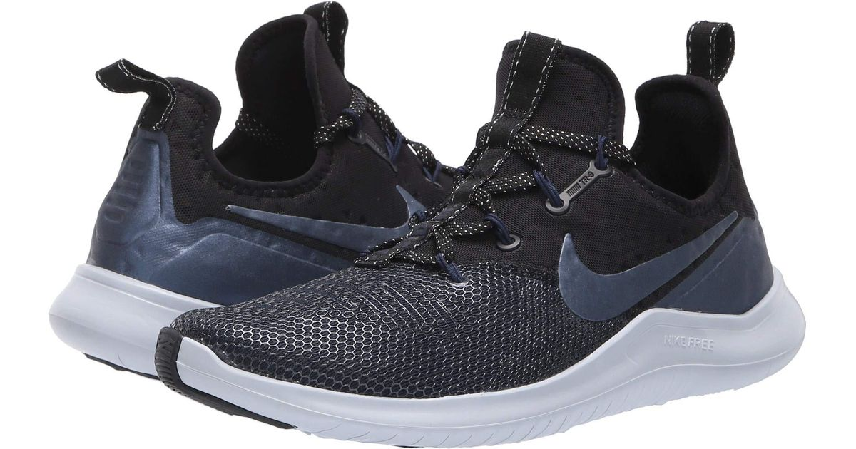 quality design a9491 5638c Nike Free Tr 8 Metallic (black metallic Armory Navy college Navy) Women s  Cross Training Shoes in Blue - Lyst