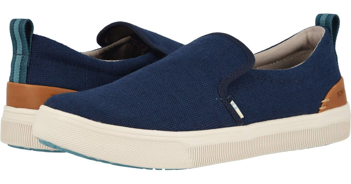 16888c0a3db Lyst - TOMS Men s Trvl Lite Canvas Slip-on Sneakers in Blue for Men - Save  47%