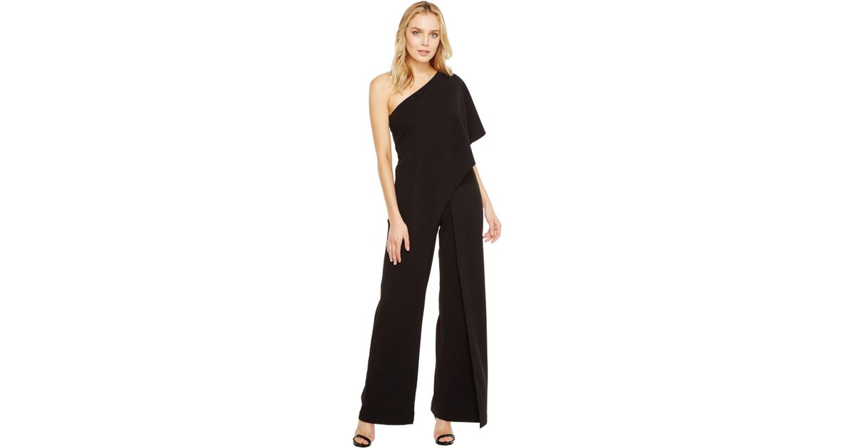 a71897db8802 Lyst - Adrianna Papell One Shoulder Jumpsuit (black) Women s Jumpsuit    Rompers One Piece in Black