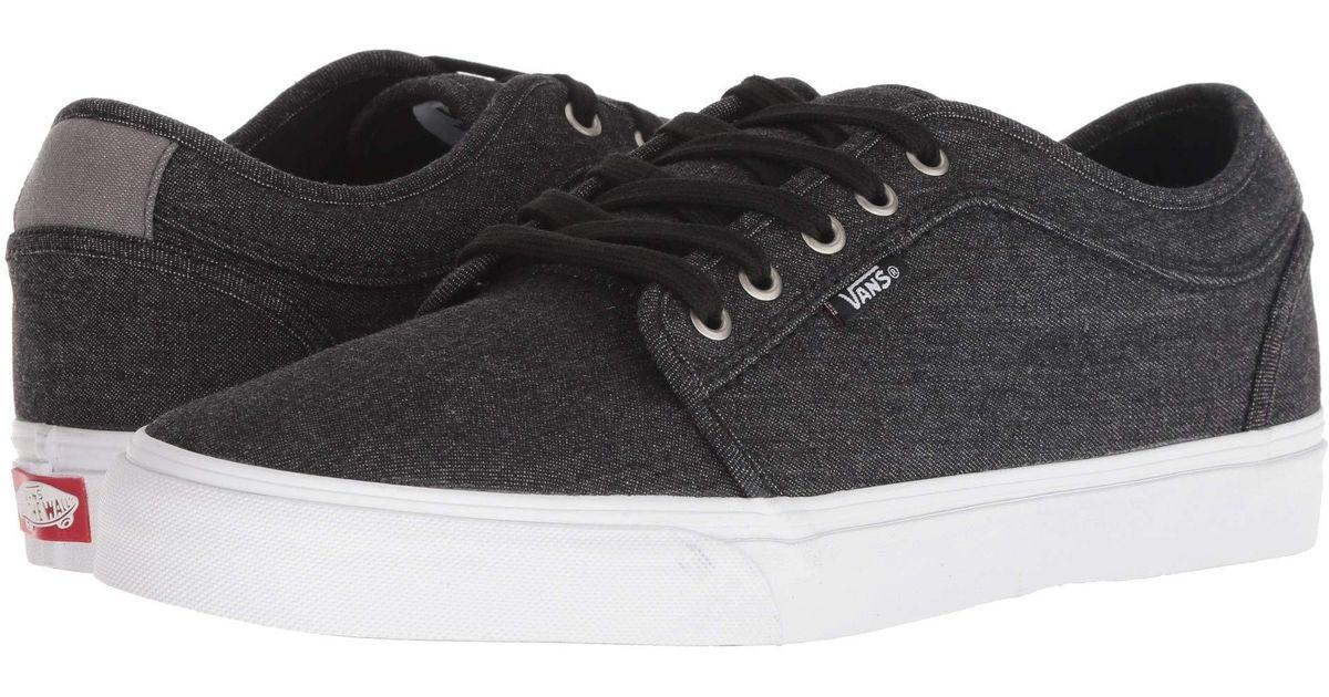d5cf04416c Lyst - Vans Chukka Low (humus true White) Men s Skate Shoes in Black for Men