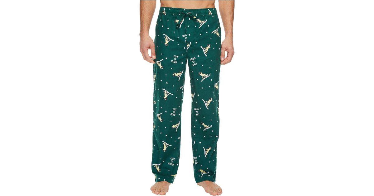 Life Is Good. - Green Classic Sleep Pants for Men - Lyst 943d32255