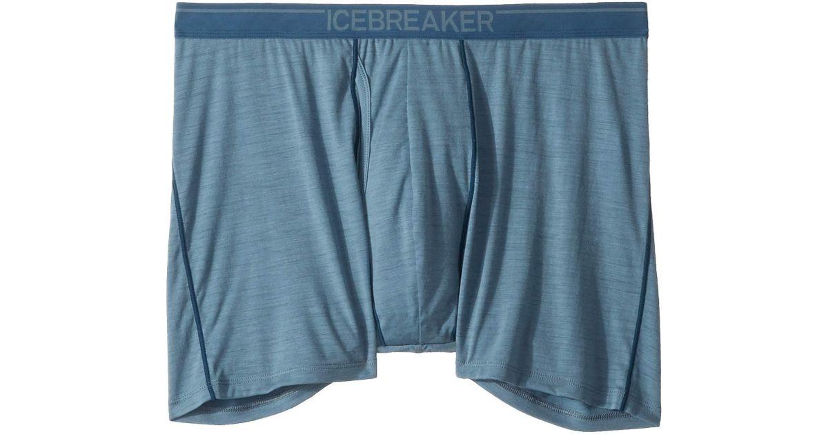 65d1f155cb Icebreaker Anatomica Merino Boxers W/ Fly (black/monsoon 1) Men's Underwear  in Blue for Men - Lyst
