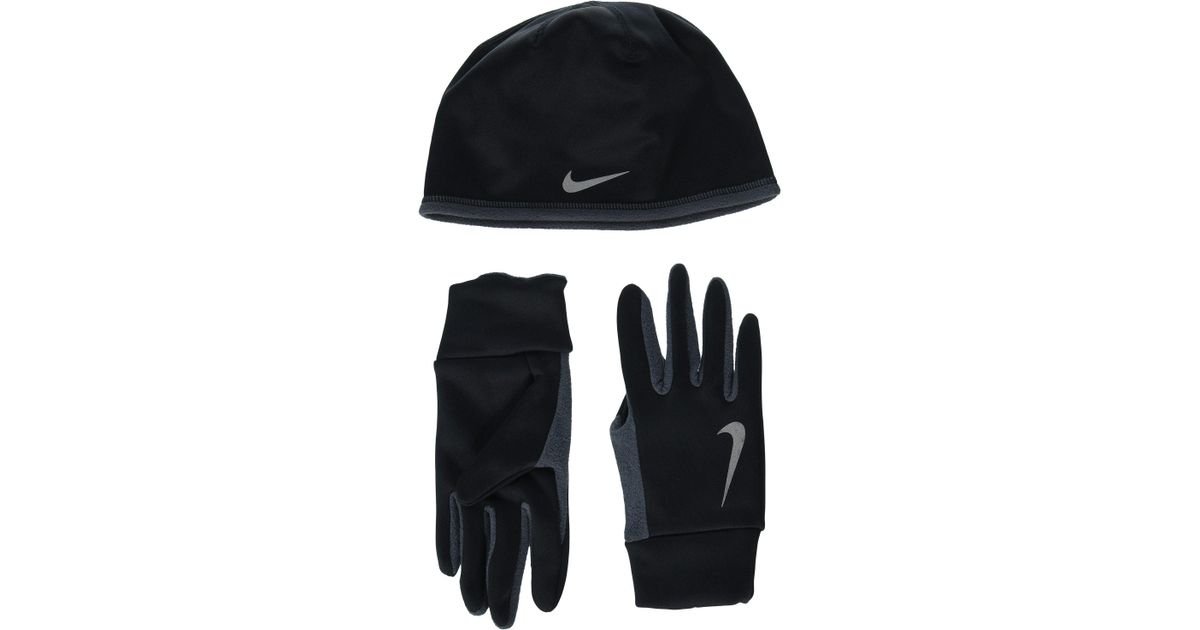 b23f28ce1475 Lyst - Nike Run Thermal Hat And Gloves Set (black anthracite silver)  Athletic Sports Equipment in Black for Men