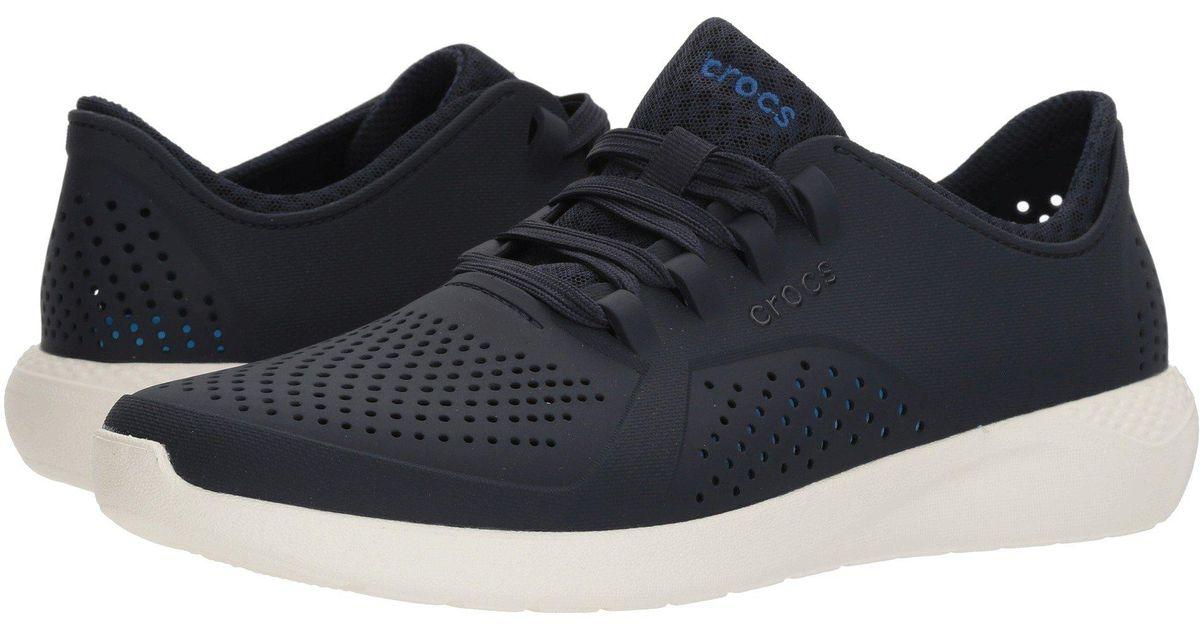 58ce4bc5032c3c Lyst - Crocs™ Literide Pacer (black white) Men s Shoes in Blue for Men