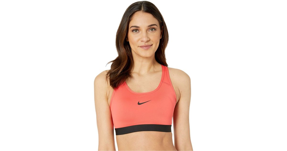d059ba306dc9 Lyst - Nike Pro Classic Padded Medium Support Sports Bra  (black black white) Women s Bra in Black