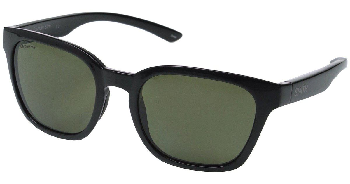 7d2eb839ec Lyst - Smith Optics Founder Slim (black polarized Gray green) Fashion  Sunglasses in Green