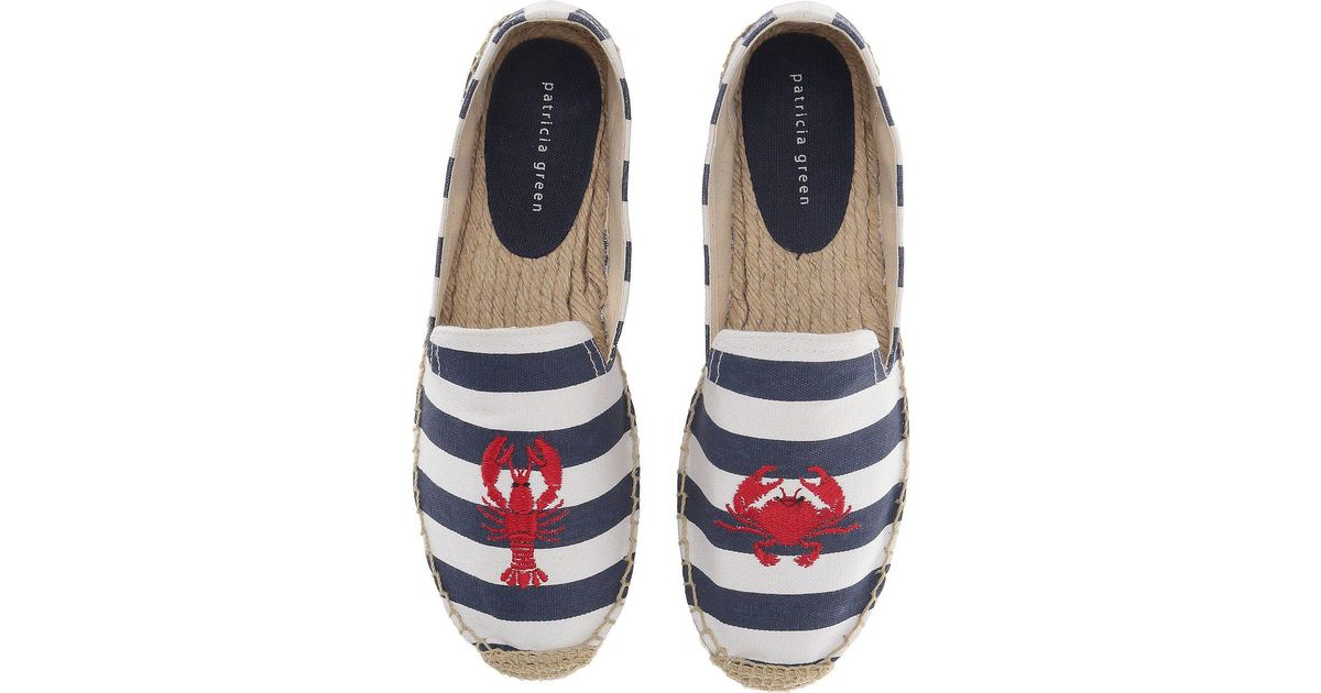 Patricia Green Women's Embroidered Lobster & Crab Espadrille Flat FPEpPL3XM