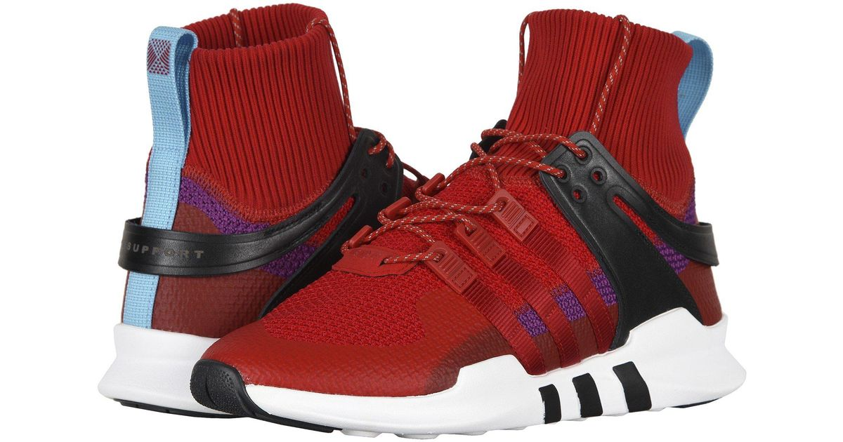size 40 1ffeb 3b88a Adidas - Red Eqt Support Adv Winter (gretwo,gretwo,ftwwht) Men's Shoes for  Men - Lyst