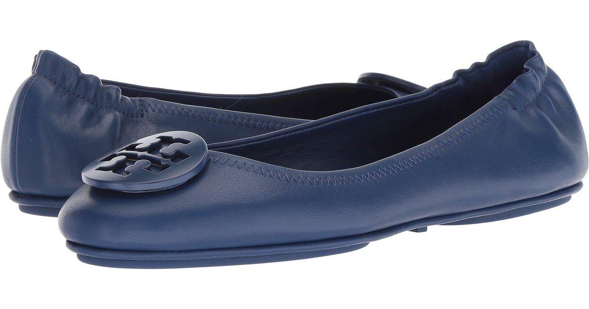 e3e72437ea74 Lyst - Tory Burch Minnie Travel Ballet Flat (tortoise) Women s Shoes in Blue