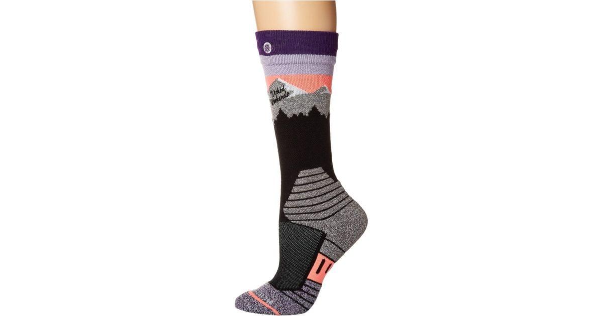 Purple Stance Break A Leg Socks
