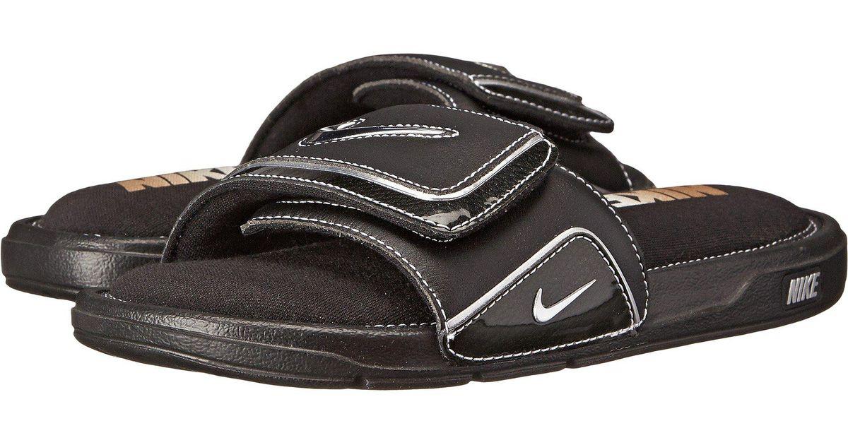 10e402e6825aec Lyst - Nike Comfort Slide 2 (black metallic Silver white) Men s Slide Shoes  in Black for Men - Save 26%