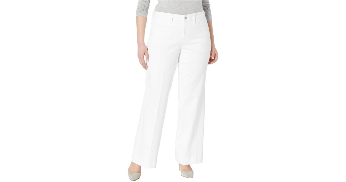 ce785565f11ed Lyst - NYDJ Plus Size Teresa Trousers In Optic White (optic White) Women s  Jeans in White