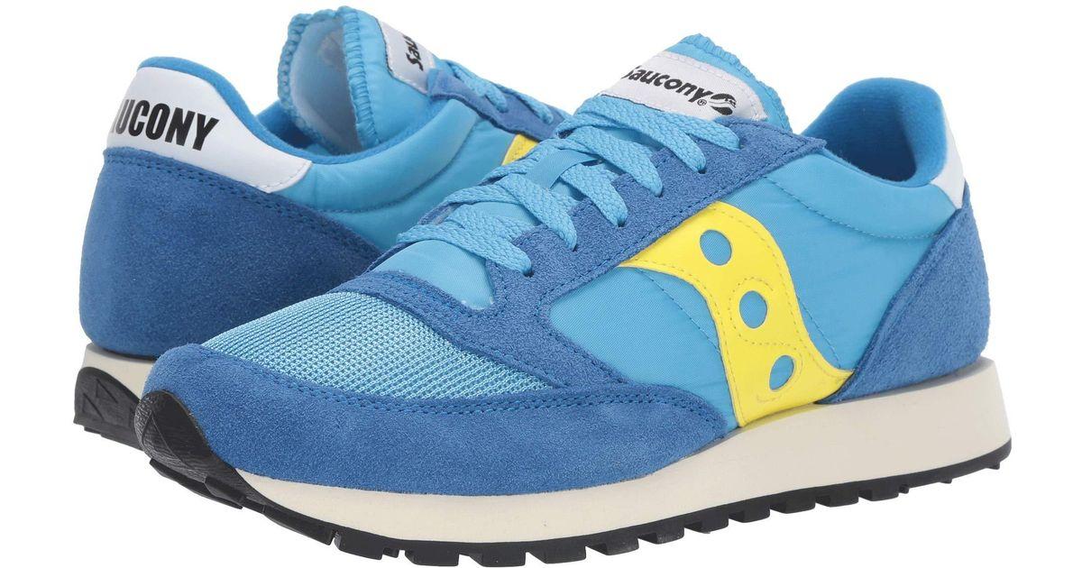 check out f0b1a 0832f Saucony - Jazz Original Vintage (blue/yellow 1) Men's Classic Shoes for Men  - Lyst
