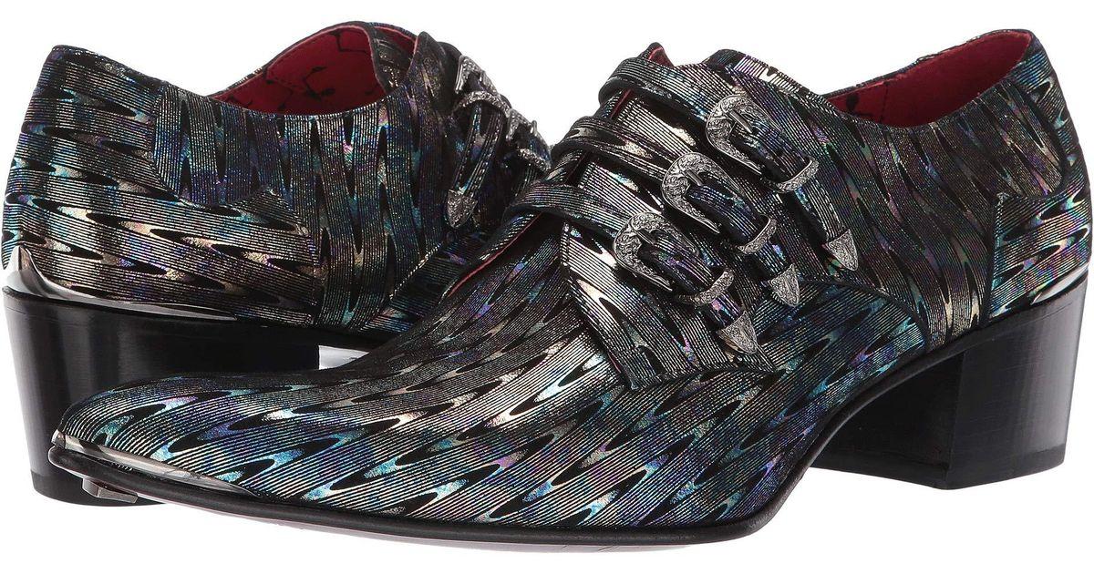 ed11965300db12 Lyst - Jeffery West Triple Monk Gibson (silver) Men s Shoes in Metallic for  Men