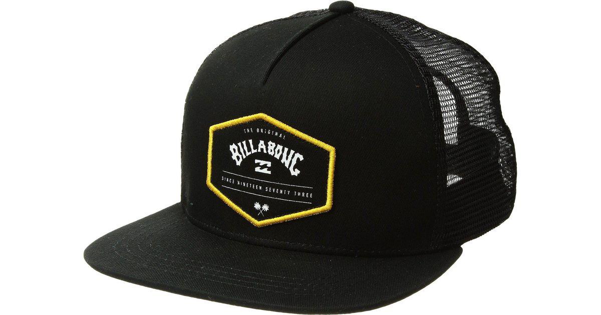 2713be47ce255 spain billabong mens walled trucker hat 8c1f3 bd987  cheapest lyst billabong  flatwall trucker hat in black for men 36921 71782