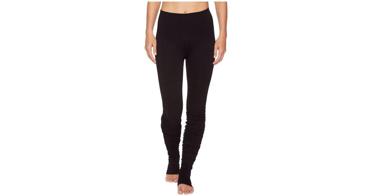 10a6e029e8 Alo Yoga High-waist Seamless Idol Leggings (black Alpine) Women's Casual  Pants in Black - Lyst