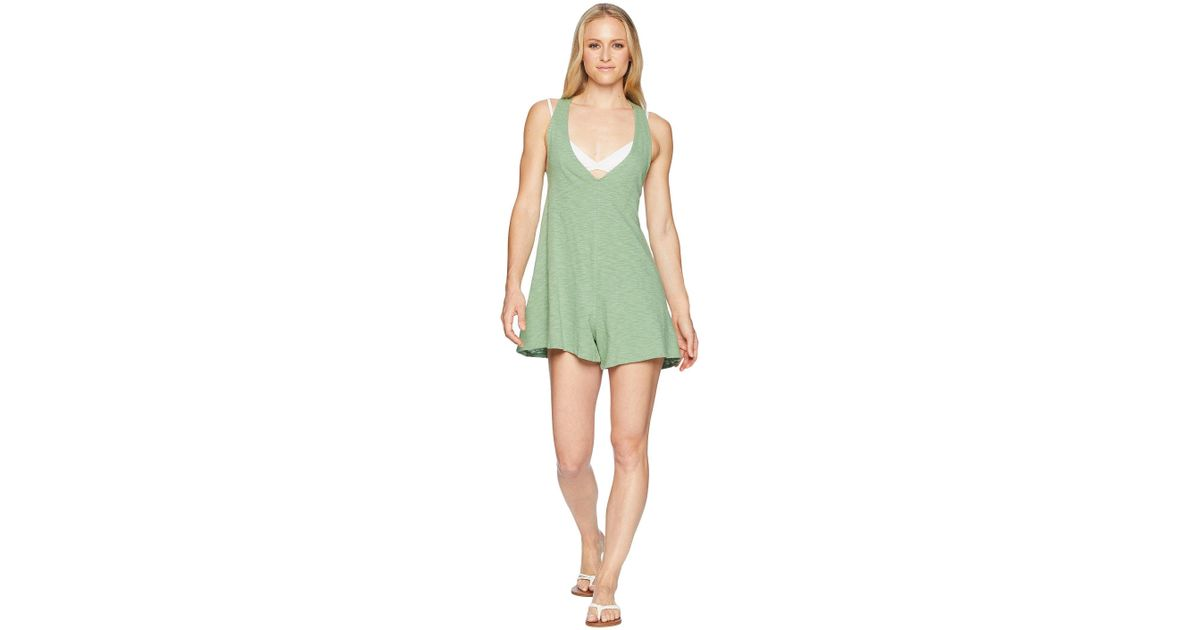762178e5943c9 Speedo Alice Romper Swimsuit Cover-up (palm) Women's Swimsuits One Piece in  Green - Lyst