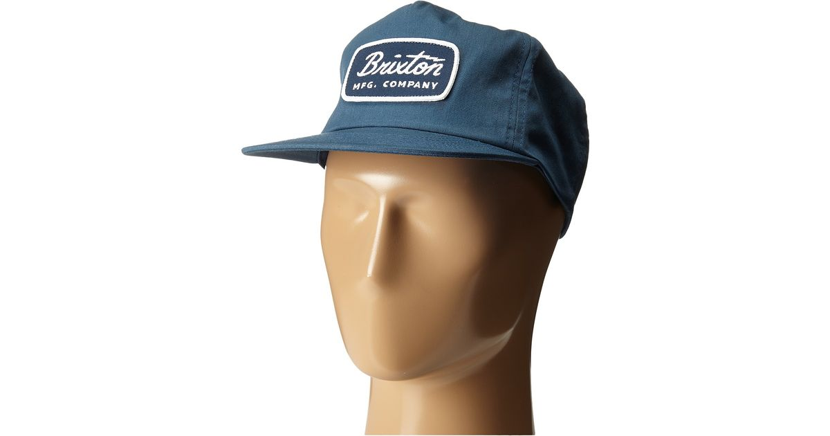 a41a1128472 Lyst - Brixton Jolt Hp Snapback in Blue for Men