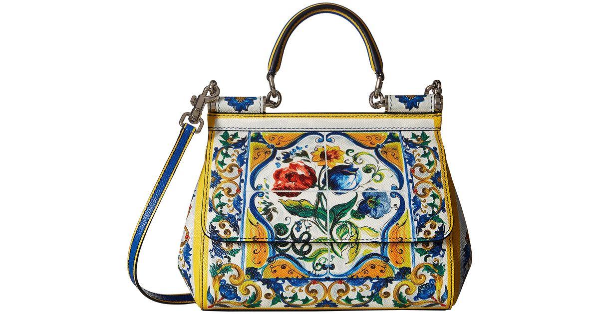 Lyst - Dolce   Gabbana Maiolica Ceramic Print Sicily Bag 39813c218fc45