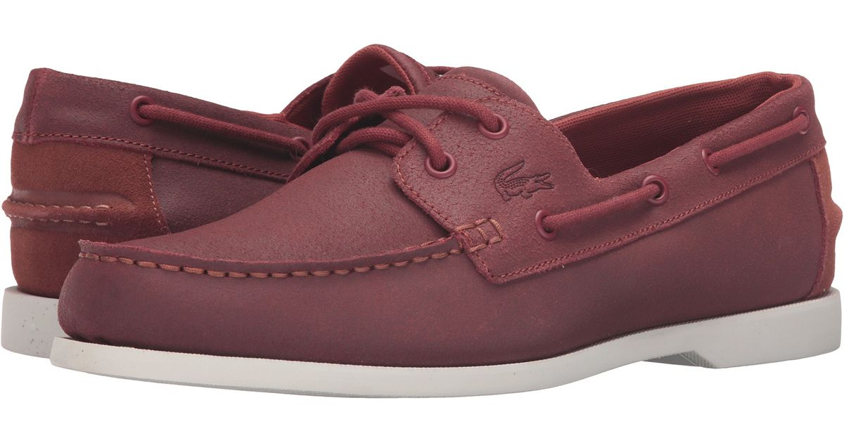 e4c084aca21e Lyst - Lacoste Concours Tassel Loafers in Red for Men