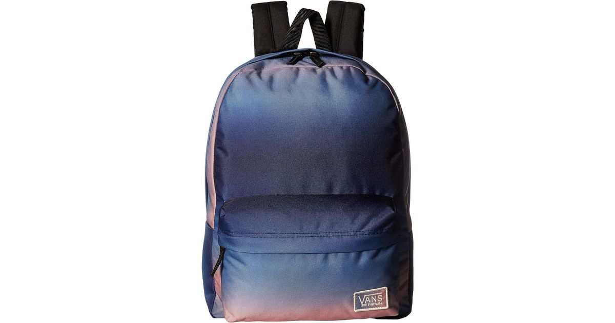 f35c00c492 Lyst - Vans New Patch Realm Backpack in Blue