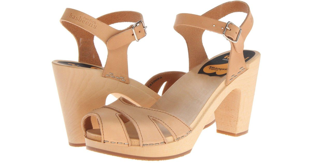 086947fd122b45 Lyst - Swedish Hasbeens Suzanne in Natural