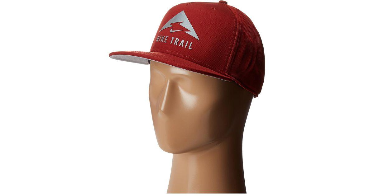 3ffe5f3285693 Lyst - Nike Aerobill Trail Cap in Red for Men