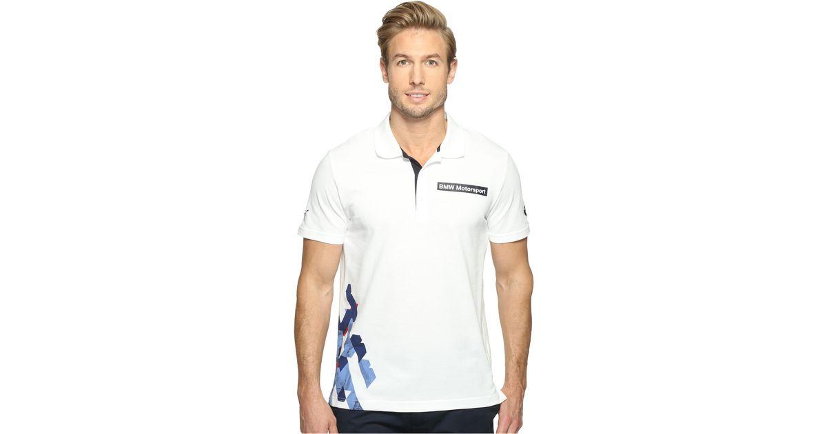 3108cbe3b77 PUMA Bmw Msp Graphic Polo in White for Men - Lyst