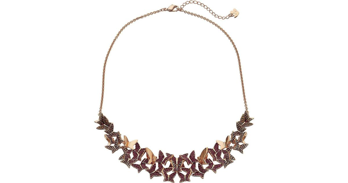 4217d54d8726 Lyst - Swarovski Lilia Large Necklace (rose Gold Plating light Multi)  Necklace