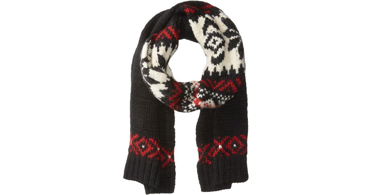 588ac12d913f6 ... sale lyst polo ralph lauren wool snowflake scarf in black save  36.42857142857143 685a1 b2633