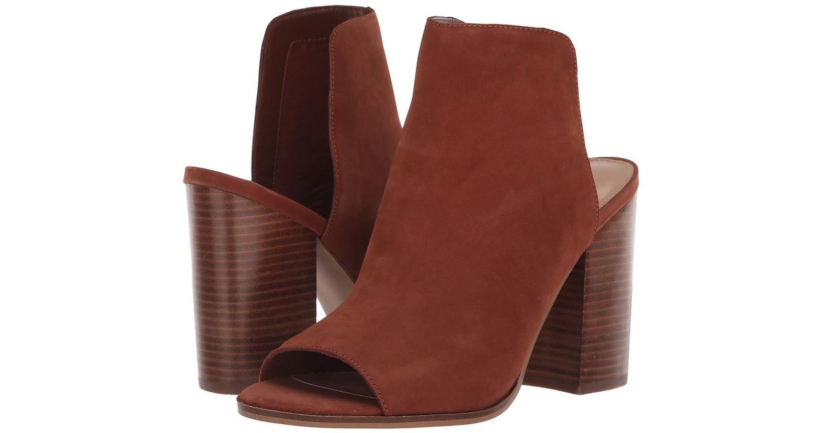 c7c6346cadf Lyst - Steve Madden Tilt Bootie (black Leather) Women s Boots in Brown