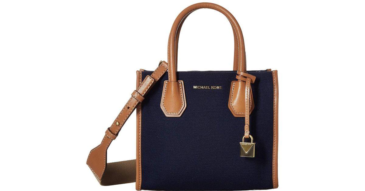 061ca43306a366 Lyst - MICHAEL Michael Kors Mercer Medium Messenger (admiral) Cross Body  Handbags in Blue