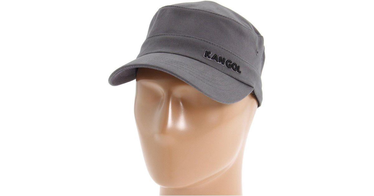 498cb8c9eb4038 Kangol Cotton Twill Army Cap in Gray - Lyst
