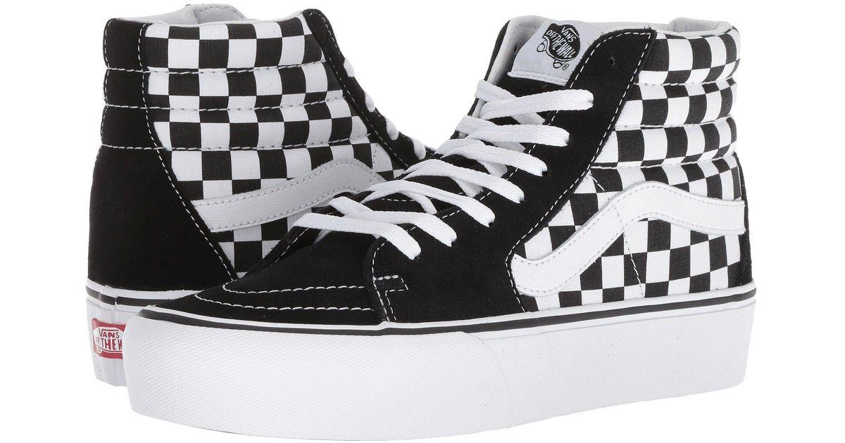 e15a104abd98 Lyst - Vans Sk8-hi Platform 2.0 (checkerboard true White) Skate Shoes -  Save 63%