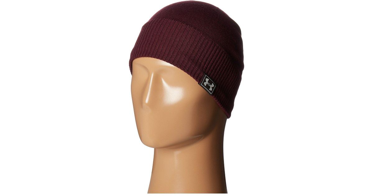 321312803a5 Lyst - Under Armour Ua Reactor Knit Beanie in Red for Men