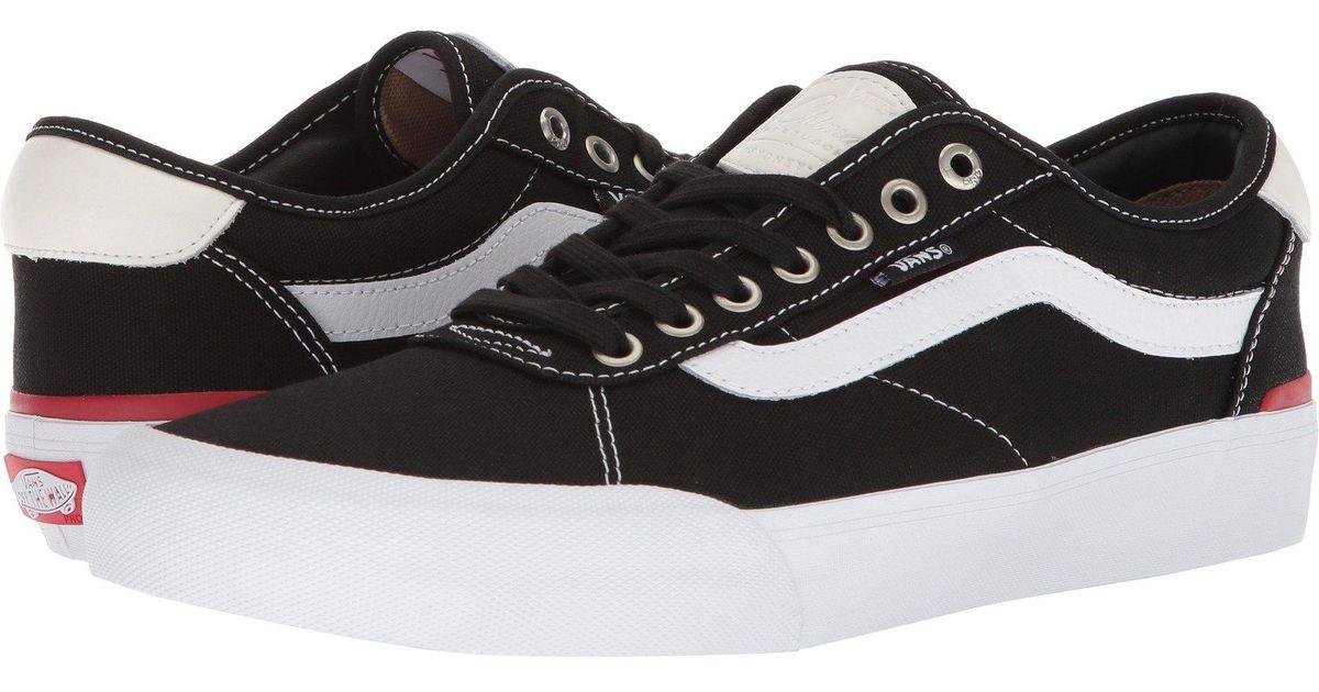 01e325ab505f Lyst - Vans Chima Pro 2 (black (canvas) white) Men s Skate Shoes in Black  for Men