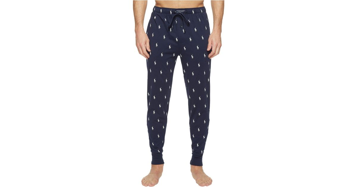 30670c642 Polo Ralph Lauren Allover Pony-print Jogger Pants in Blue for Men - Save  37% - Lyst