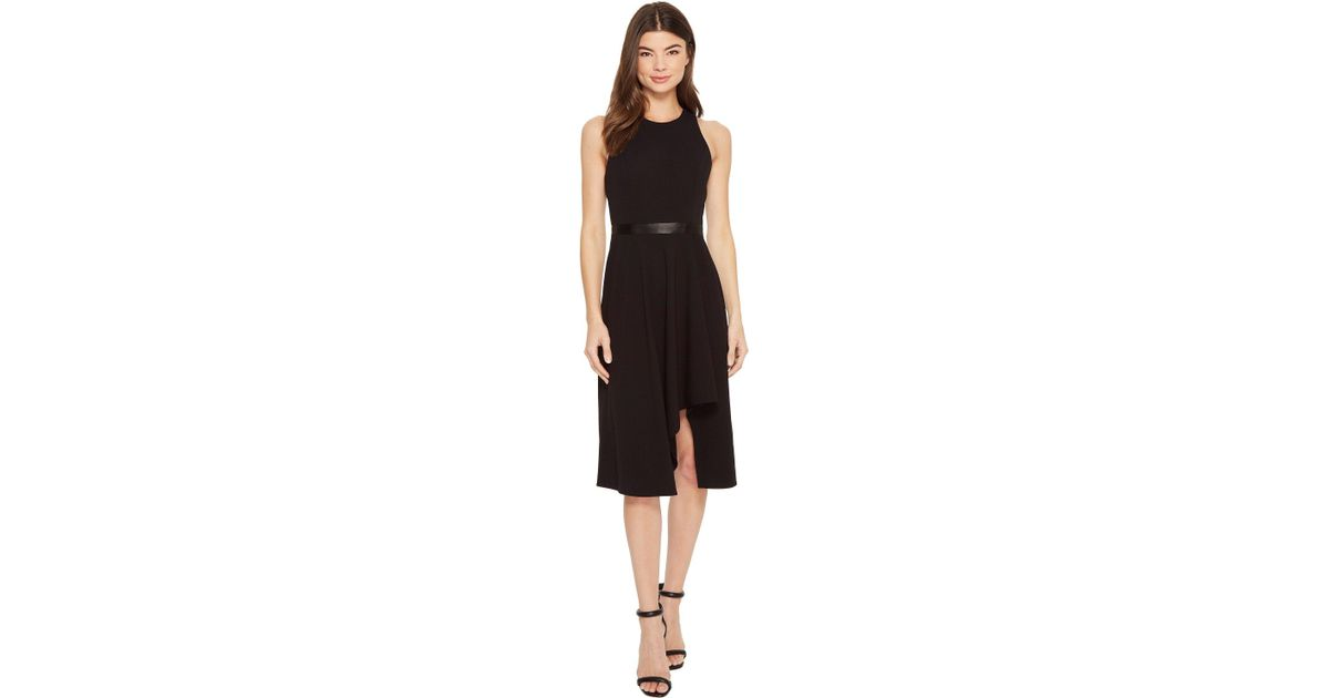 9fb7558bb252f Calvin Klein High-low With Contrast Lining Cd8c11kv (black/white) Dress in  Black - Save 35% - Lyst