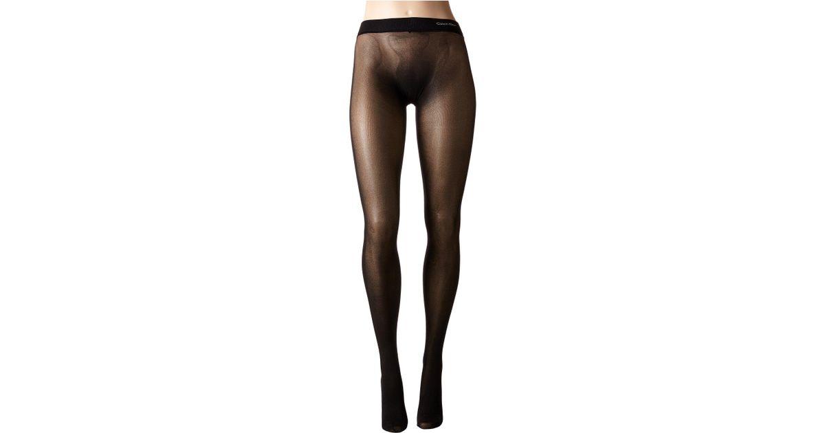 5d67cdf769aae Calvin Klein Seamless Opaque Tights in Black - Lyst